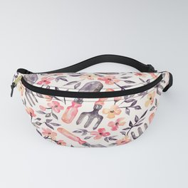 Spring Gardening - peach blossoms on cream Fanny Pack