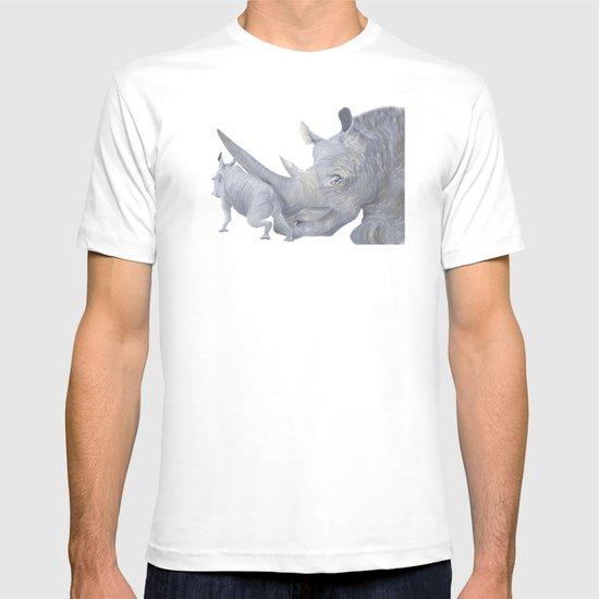 Rhinoceros Typography T-shirt