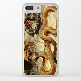 Kuhnert, Friedrich Wilhelm (1865-1926) - Wild Life of the World 1916 v.3 (Cobra & Puff Adder) Clear iPhone Case