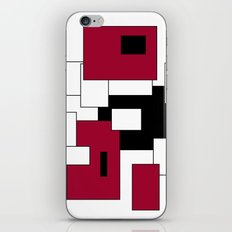 Squares - purple, black and white. iPhone & iPod Skin