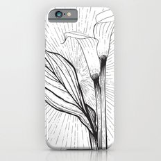 Lily in Black and White iPhone 6s Slim Case