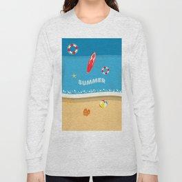 Summer Beach Long Sleeve T-shirt