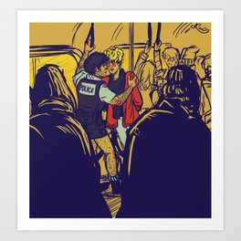 Enjolras gets arrested by Coptaire Art Print