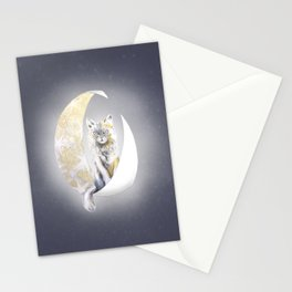 Lunatic cat Stationery Cards
