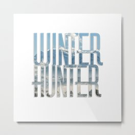 Winter Hunter Metal Print