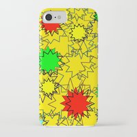 yellow pattern iPhone & iPod Cases featuring Yellow pattern  by Vivian Fortunato
