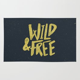 Wild and Free x Gold and Navy Rug