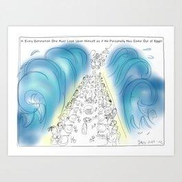 Passover Seder Art Print
