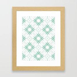 Watercolor Shibori Sea Salt Framed Art Print