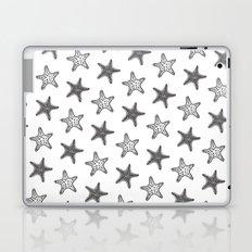 Starfish Black on White Laptop & iPad Skin