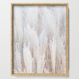 Pampas Grass Beige Neutral Color Serving Tray