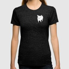 the pig Womens Fitted Tee Tri-Black SMALL