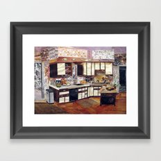 Winter Kitchen Framed Art Print