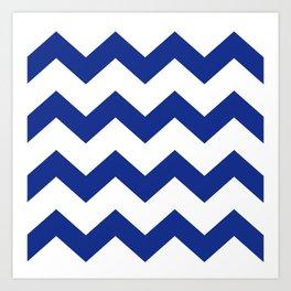 Blue Chevron Art Print
