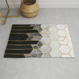 Charcoal Hexagons Rug
