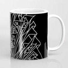 flame line art - black Mug