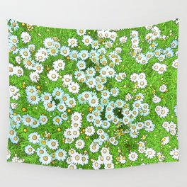 Daisies Painting Wall Tapestry