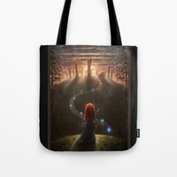 be brave Tote Bags featuring Brave by Westling