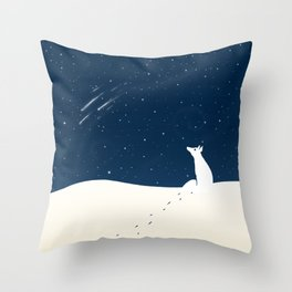 Winter Night Throw Pillow