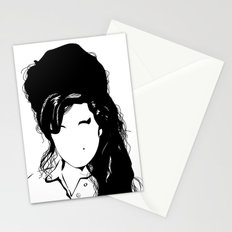 Amy back to just black Stationery Cards