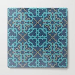 pattern blue a202 Metal Print