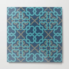 pattern blue a202 Metal Print