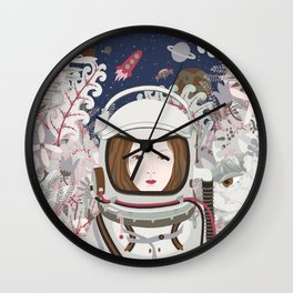 Lady Astronaut Wall Clock