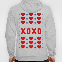Red Hugs and Kisses Hoody