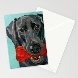 Ozzie the Black Labrador Retriever Stationery Cards