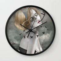 nurse Wall Clocks featuring The Nurse by Dolce Babanne