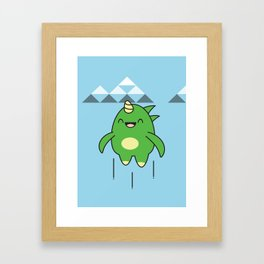 Kawaii Dragon Framed Art Print
