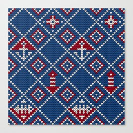 Grandma's knitting pattern for Saylor's Ugly sweater Canvas Print