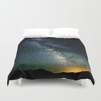 milky way Duvet Covers featuring The Milky Way by 2sweet4words Designs