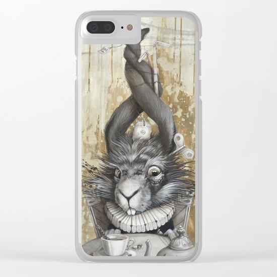 le lièvre de mars Clear iPhone Case