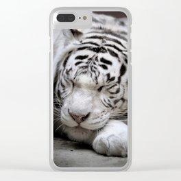 White tigress Clear iPhone Case