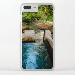 Water pumped Clear iPhone Case