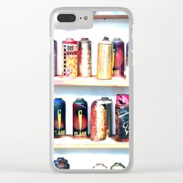 Spray Cans - United Kingdom Clear iPhone Case