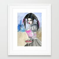 carmilla Framed Art Prints featuring Carmilla by ArtOfJamesAdams