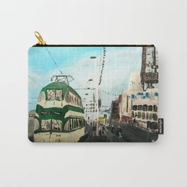 Blackpool Lancashire England Acrylic Fine Art Carry-All Pouch
