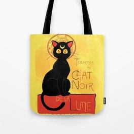 Chat Noir de la Lune Tote Bag