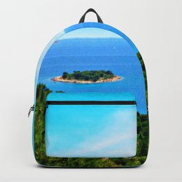 Lonely Island. Adriatic Sea, Europe Backpack