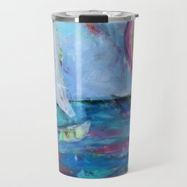 Sailboat at Sunset Travel Mug