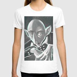 creepy spooky nosferatu T-shirt