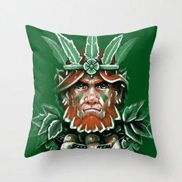 Wild Leprechan Throw Pillow