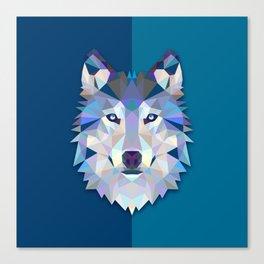 Graphic Wolf Canvas Print