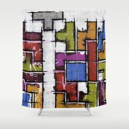 Life as Tetris Shower Curtain