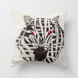 Mummy Wolf Throw Pillow