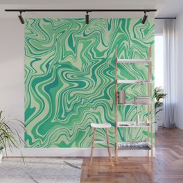 Green Marble Wall Mural