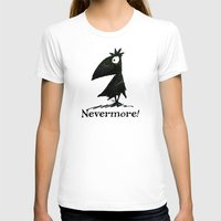 edgar allen poe T-shirts featuring Nevermore! The Raven - Edgar Allen Poe by Paul Stickland for StrangeStore