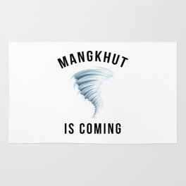 MANGKHUT IS COMING Rug